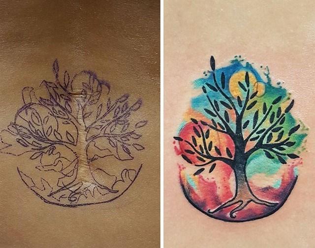 Tatuagens feitas para esconder cicatrizes #12