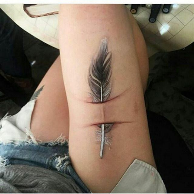 Tatuagens feitas para esconder cicatrizes #6