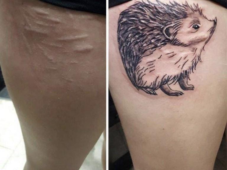 Tatuagens feitas para esconder cicatrizes #22