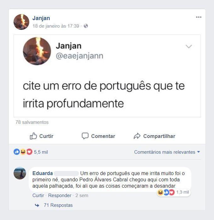 Maior erro de português