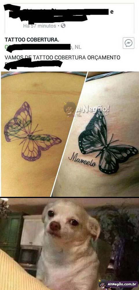 Cobrindo a tatuagem com outra