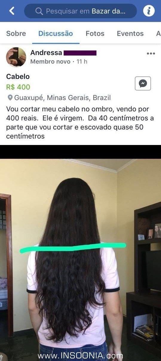 Ela quer vender o cabelo mas a internet não quer deixar