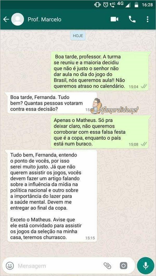 Resposta do professor referente aos Jogos do Brasil